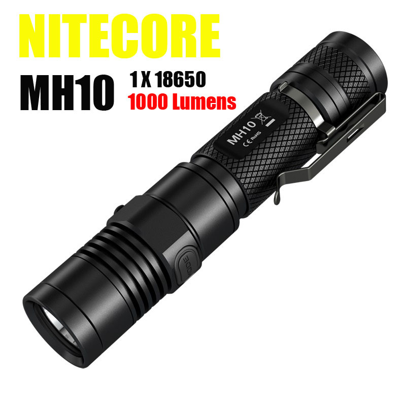 2015 Newest Nitecore MH10 1000 lumens CREE XM-L2 U2 LED flashlight + Nitecore 2300mah rechargeable battery Freeshiping nitecore srt6 930 lumens cree xm l xm l2 t6 tactical led flashlight black free shipping