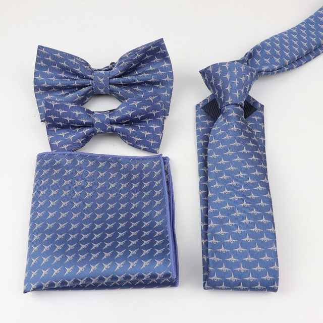 0470b89f1416 Mens Polyester Designer Skinny Striped Pocket Square Handkerchief Butterfly Bow  Tie Ties Set Parent-child