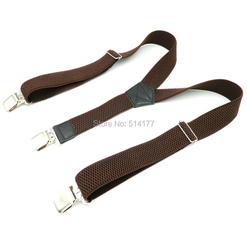 2019 Man's Fashion Braces Trousers Suspensorio Strap 3Clip Suspenders Width 4cm Husbands/Father Gifts Tirantes Hombre