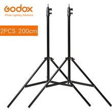 2x Godox 2 m Light Stand Statief voor Foto Studio Softbox Video Flash Paraplu Reflector Verlichting Bakcground Stand 200 cm