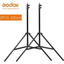 2x Godox 2m pied de projecteur trépied pour Photo Studio Softbox vidéo Flash parapluies réflecteur éclairage Bakcground support 200cm