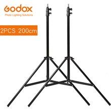 "2x אור Stand חצובה לצילום סטודיו Softbox Godox 2 m וידאו מטריות הבזק תאורת רפלקטור Bakcground Stand 200 ס""מ"