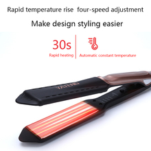 Electric splint size Professional hair straightener ceramic corn hot straight stick clip thermostat anion