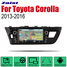 ZaiXi Auto Radio 2 Din Android Car DVD Player For Toyota Corolla 2013~2016 GPS Navigation BT Wifi Map Multimedia system Stereo zaixi auto radio 2 din android car dvd player for toyota corolla 2013 2016 gps navigation bt wifi map multimedia system stereo