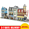 LEPIN 15002 Make Create Cafe Corner 15007 Market Street 15008 Green Grocer Building Blocks Toys Clone 10182 10190 10185