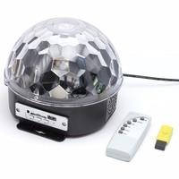 Colorful RGB LED MP3 Crystal Magic Ball Stage Effect Light DJ Club Disco Party Lighting