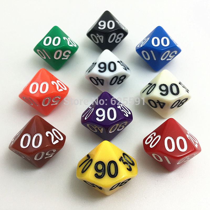 10pcs set t g colorful d10 dice set opaque effect dungeons and