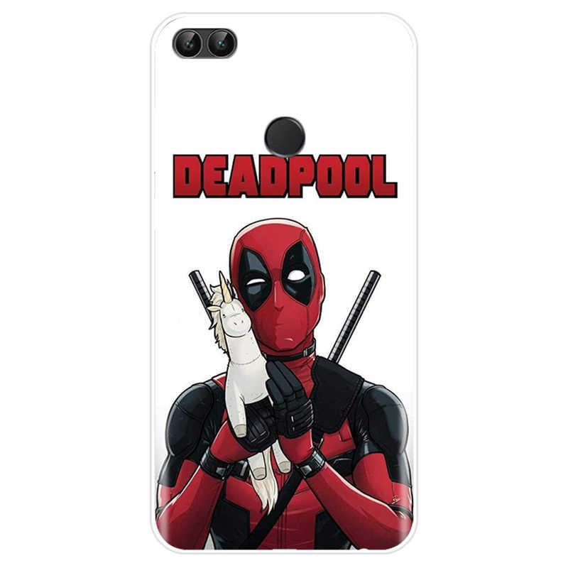 أعجوبة الفعل بركة Deadpool غطاء لينة سيليكون الهاتف حافظة لهاتف huawei P9 P10 P20 زائد P20 P30 برو P8 P9 P10 P20 p30 لايت P الذكية