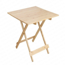 0%Solid Wood Folding Table Home Eating Small Table Small Apartment Two People Four People Kitchen Portable Stall Table
