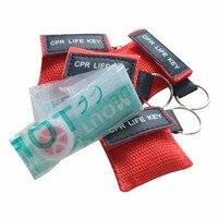 850 шт./упак. здоровье и гигиена CPR жизнь ключ маска для искусственного дыхания при реанимации брелок уход за кожей лица щит красный цвет нейло