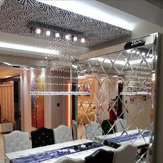 led crystal chandelier lustres diningroom crystal lamps long spot ...