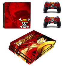Anime One Piece PS4 Pro Skin Sticker Decal For PlayStation 4 Console and Controller PS4 Pro Full Skin Sticker Faceplates
