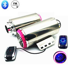 Motorcycle Exhaust Pipe Speaker Leaks Modified Scooter Akrapovic Muffler Nice Sound good Music radio 2 color Universal MP3 Audio