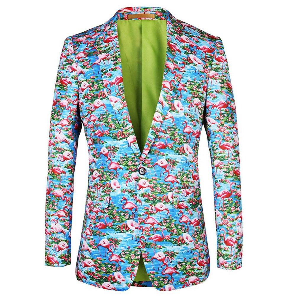 55bf922a2 De Boda Noche Chaqueta Vino Azul Floral Padrino Masculino Estampado Vestido  Blue Traje Hombre Pioneros Cielo ...