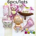 New mini Bear Teddy Bear foil balloon Angel Baby Shower aluminum balloons birthday party decoration balloon wholesale baby