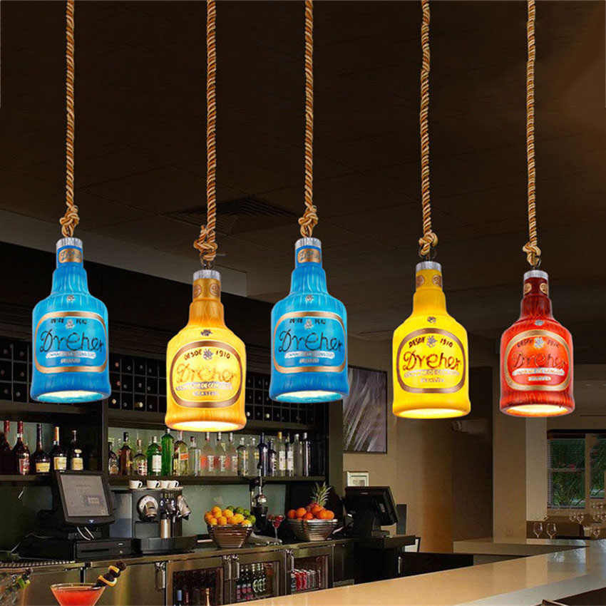 Modern Creative Retro Resin Led Pendant Light Fashion