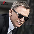 Meguste James Bond Sunglasses Men Brand Designer TR90 Sun Glasses Men's Super Star Square Celebrity Driving TF Sunglasses.