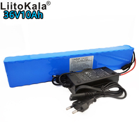 LiitoKala original authentic 36V 10Ah lithium battery pack 42V 10000mAh 10S4P rechargeable battery BMS electric bicycle battery