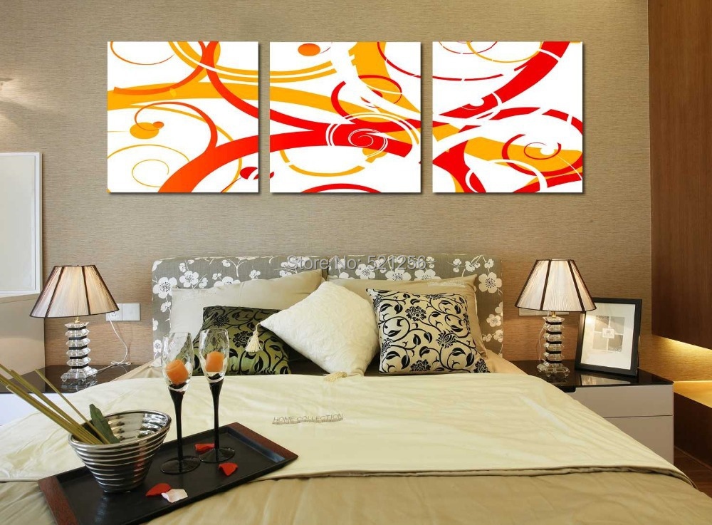 Acquista all'ingrosso online pittura una camera da letto arancione ...