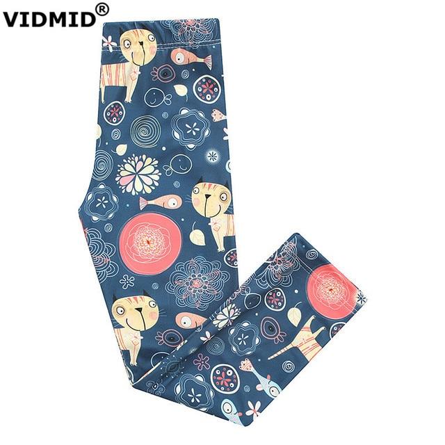 Vidmid/штаны для девочек Леггинсы для женщин для Летние штаны для девочек Дети дизайнер Мотобрюки большая девочка цветок Леггинсы для женщин 10 12 лет 4012