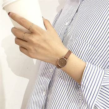 bf0d6934f48e Relojes casuales de cuarzo para mujer pequeños delicados elegantes  sencillos reloj de pulsera para mujer