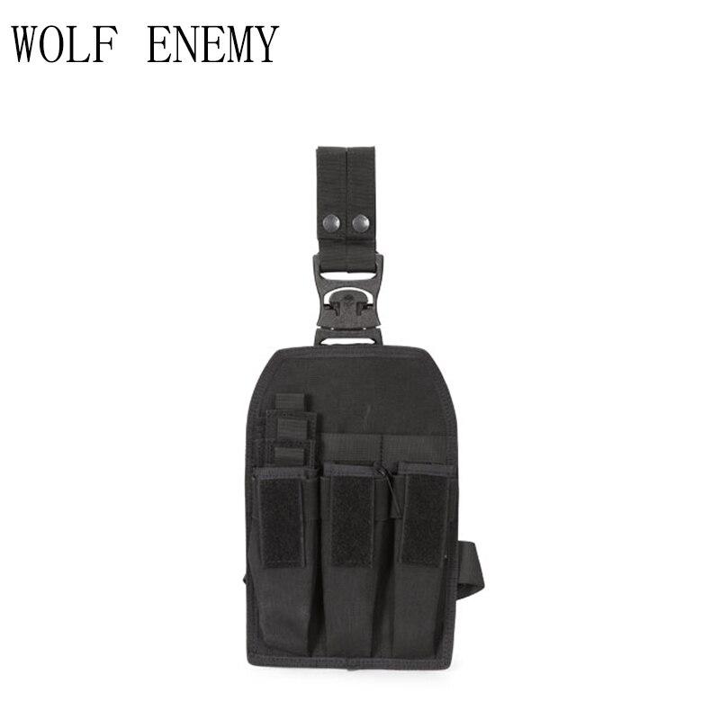 Poche de Magazine tactique extérieure KRISS/MP7 plate-forme de jambe de chasse militaire accessoires de cartouche Molle sacs