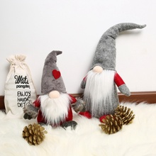 Christmas Decoration Xmas Swedish Elf Tomte Santa Claus Dolls Tree Hanging Decor Home Holid