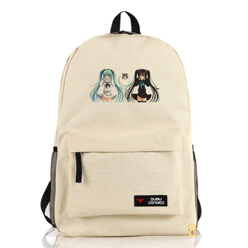 VOCALOID Hatsune Miku Bags High Quality Backpacks Mochila Feminina School Backpack Preppy Style Satchel fashion high quality vocaloid hatsune miku canvas backpack anime women grils boys cosplay laptop school bag