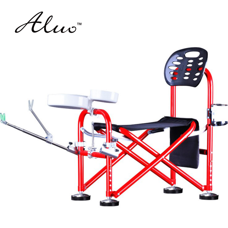 aluminium alloy height adjustment anti sway fishing chair multifunctional portable folding stool fishing supplies OEM ...