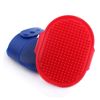 Blue red Silicon pet dog shampoo Brush cat Massage comb rubber dogs Hair accessories Bath Brush dogs cats fur Glove Hair Comb  1