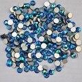 Montana AB cor ss3, Ss4, Ss5, Ss6, Ss8, Ss10, Ss12, Ss16, Ss20, Ss30 cristal de volta plana não Hotfix Nail Art cola em strass