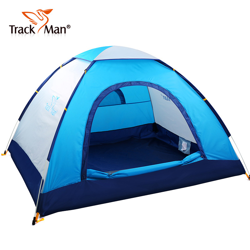 Trackman 3-4 Person 2 Layer Quick Open Automatic Pop Up Waterproof Hiking Beach Fishing Picnic BBQ Family Outdoor Camping Tent high quality outdoor 2 person camping tent double layer aluminum rod ultralight tent with snow skirt oneroad windsnow 2 plus
