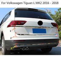 Car Stick Body Cover Back Rear Door Tailgate Frame Lamp Plate Trim For Volkswagen VW Tiguan