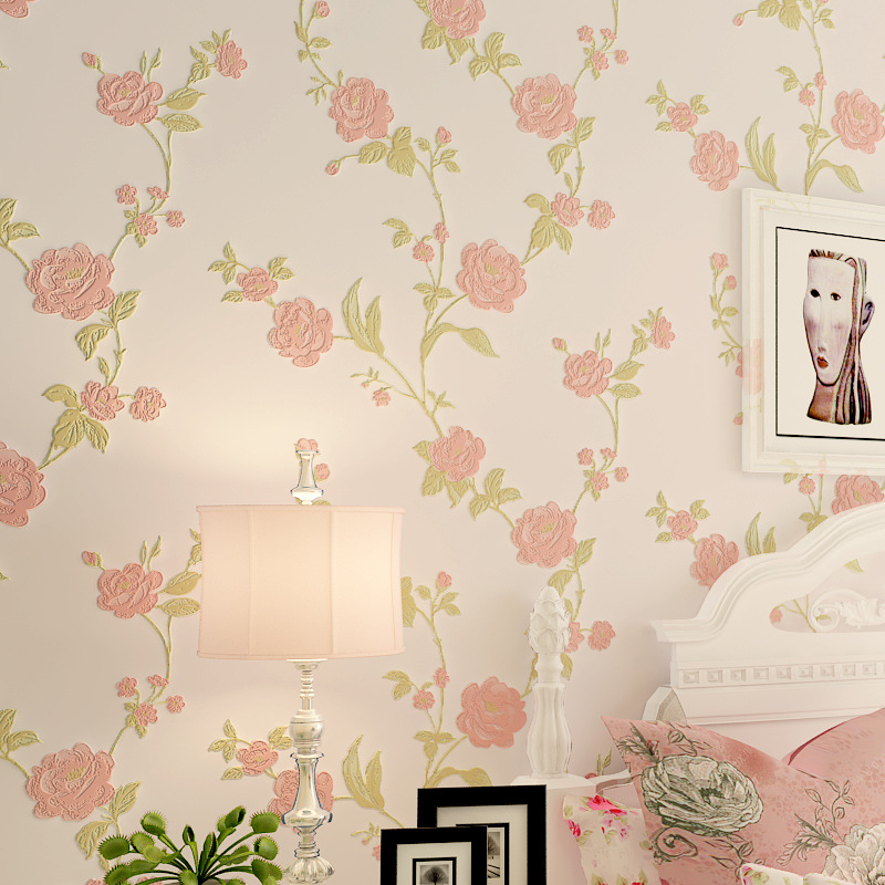 beibehang Pastoral flowers mural Wallpaper For Wall 3 D Classic TV Room Bedroom Wall paper Home Decor beige yellow light green wallpaper for walls 3 d pastoral wallpaper living room bedroom tv background wall tree flowers and birds wall paper beibehang