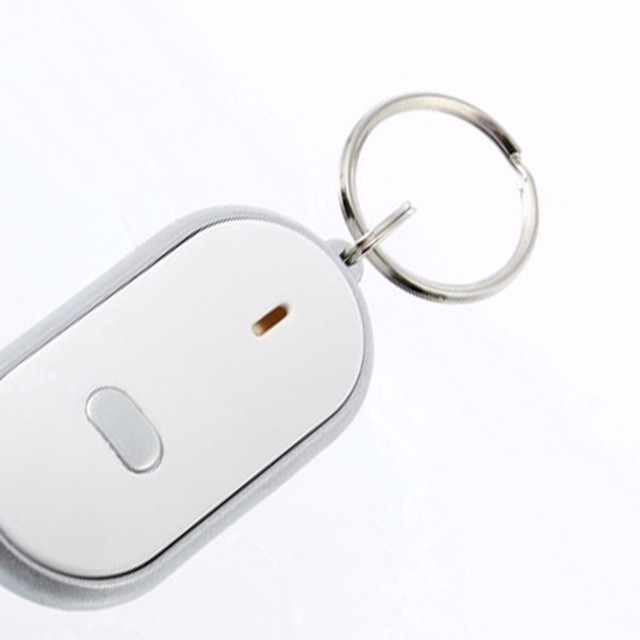 KISSWIFE 2018 New LED Anti-Lost Key Finder Find Locator Keychain Whistle Beep Sound Control Torch Free shipping