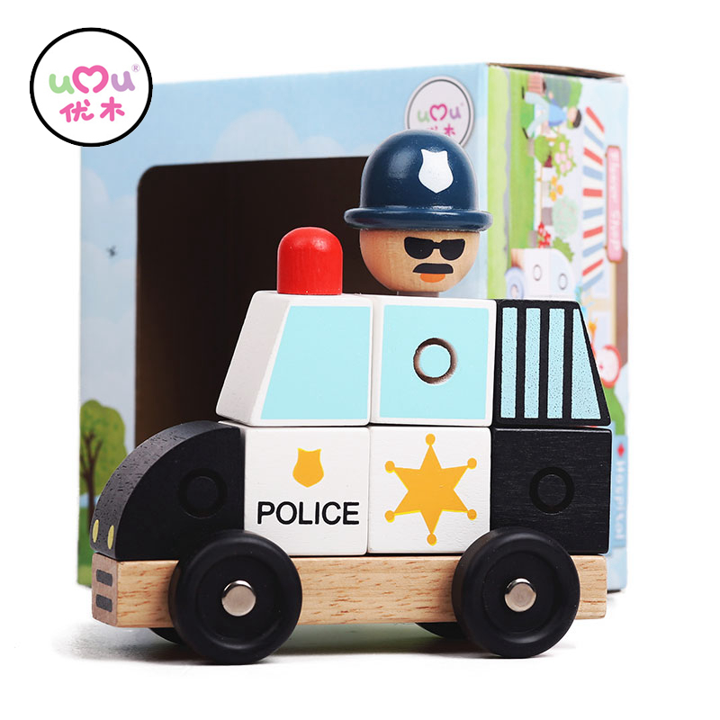 Cars Model Vehicles Blocks Educational Wooden Toys For Children Traffic Model Wooden Building Blocks Kids Gift UQ1468H ...