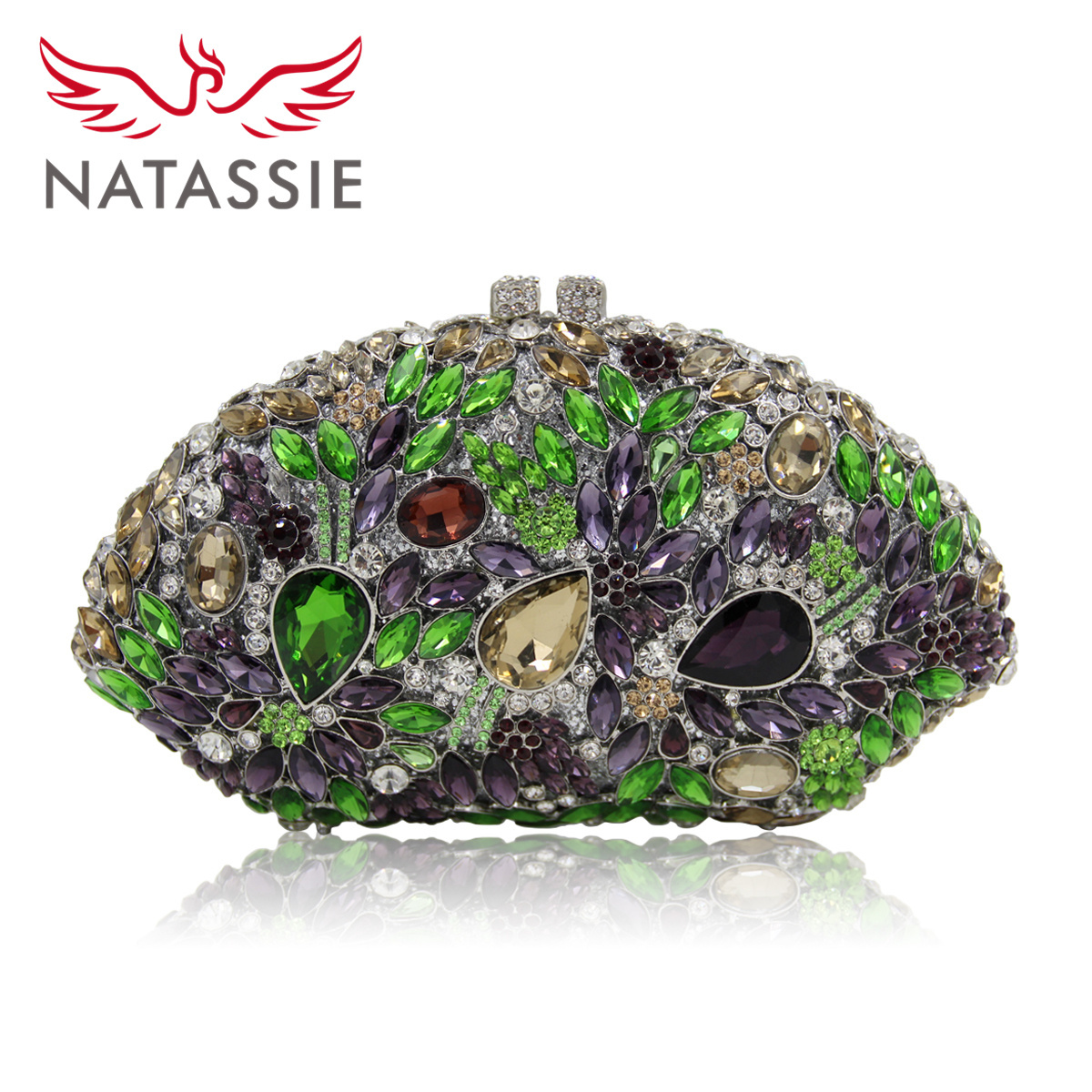 Natassie 2017 New Fashion Women Evening Bag Female Crystal Wedding Clutch Purses Party Bags Ladies Design Colorful Clutches natassie new design luxury crystal clutch women evening bag gold red ladies wedding banquet party purses good quality