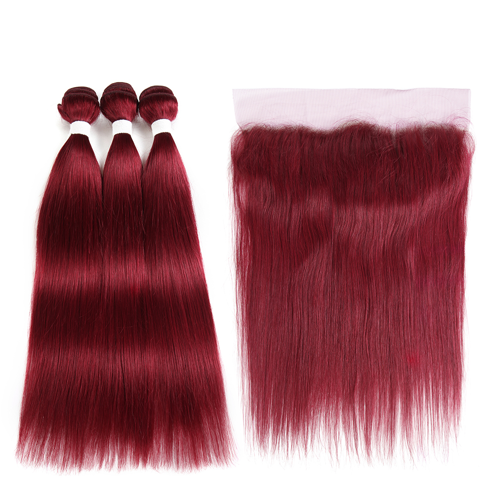 Red Human Non-Remy Hair