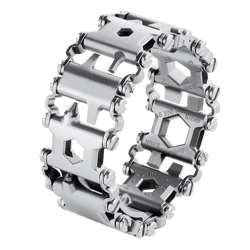 DreamBell Hommes En Plein Air Spliced Bracelet Multifonctionnel Portant outil de tournevis À La Main Chaîne Champ Survie Bracelet - 2