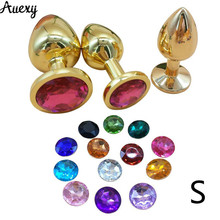 AUEXY Small Tapon Anal Jewel Plug Golden Butt Metal Stainless Steel Analplug Sex Adults Sextoy for Woman Gay Men Plugs