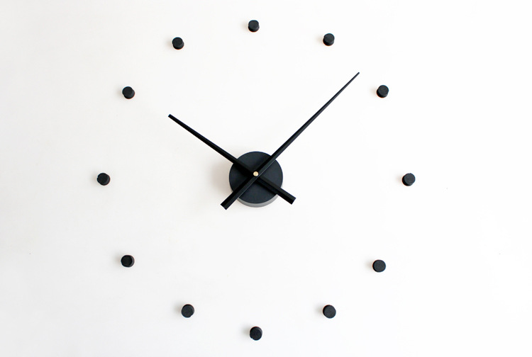 12 Dots Design Sticker EVA 70CM-100CM Kitchen Wall Clock Large Decorative 3D Diy Wall Clock Very Big Clock