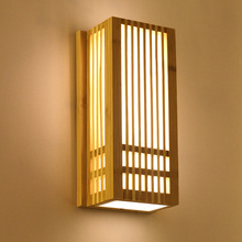 Lighting Wall-Lamp Izakaya-Light Bamboo-Wall-Sconce Bedroom Wood Hotel LED Living-Room