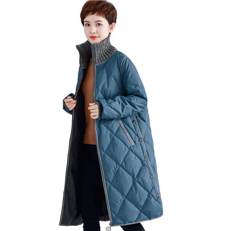 Зимний пуховик женский 90% утиный пуховик женский повседневное длинное пальто плюс размер свободные пуховые парки, верхняя одежда YP2128