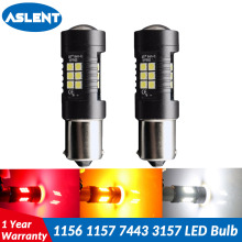 2pcs 1156 BA15S P21W 1157 BAY15D P21/5W T20 7443 W21/5W LED Bulb T25 3157 p27/7w Car Brake Reverse Light 12V Lamp Turn Signal