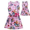 Newest Summer children dress baby girls Pokemon Go Pikachu cartoon casual dress Bow pink princess dress Christmas hot 5-12Y