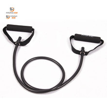 resistance exercise band tubes stretch yoga resistance band fitness workout pilates black band