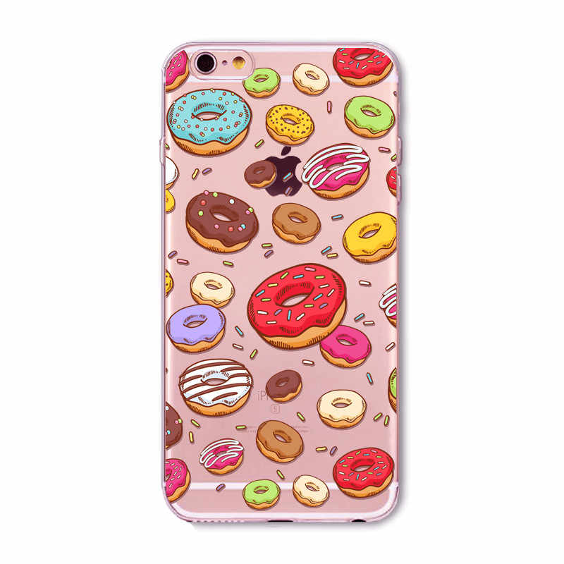 Caso do telefone do gelado para o iphone 8 6 caso claro silicone tpu capa macia de volta coque capa para iphone 7 6s 5 5S se casos