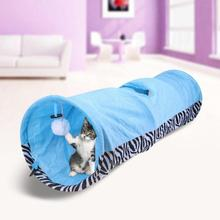 Cat Toys Play Tunnel 3 Holes Leopard Rabbit Collapsible Bulk Interactive Dog Kitten Pet With Ball