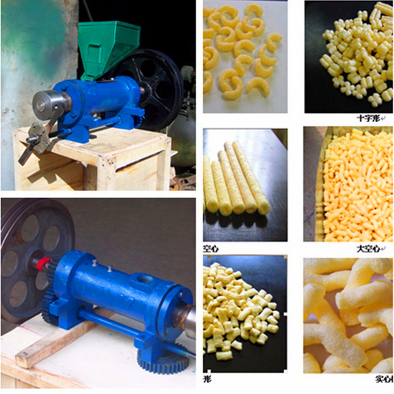 New design corn bulking food making machine puffed rice puffing snacks extruder ZF puffed maize or rice food extrusion machine with 7 molds puffed corn bulking snacks making machine zf