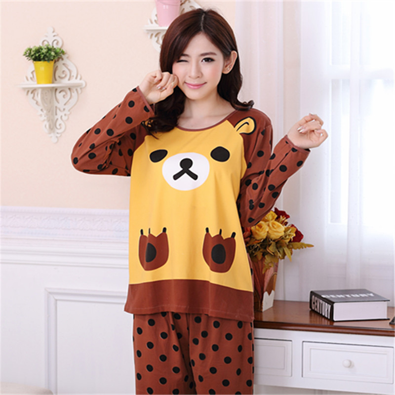 bf1dcc49538c New 2015 Women s Winter Pajamas O Neck Long Sleeve Sleepwear Cotton Cute  Warm Christmas Women Nightwear Adult Minion Pajama Sets-in Pajama Sets from  ...